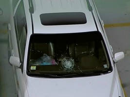 melky cabrera home run breaks windshield